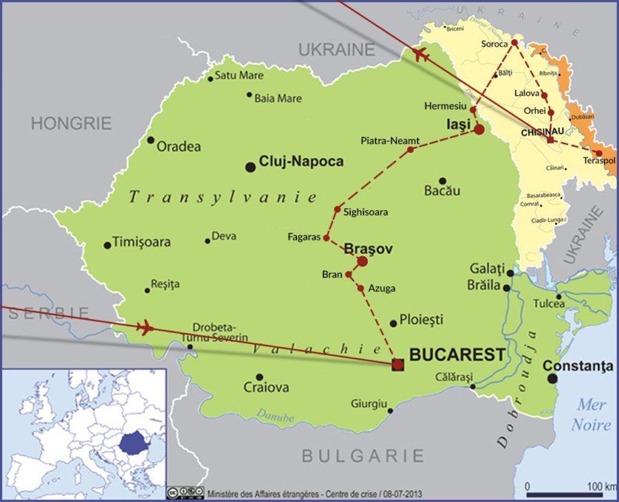 Carte Roumanie Moldavie.En Plus De La Decouverte Du Patrimoine Culturel Et Naturel De La Moldavie